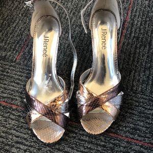 J Renee peep toe heel w/straps - sz 8.5